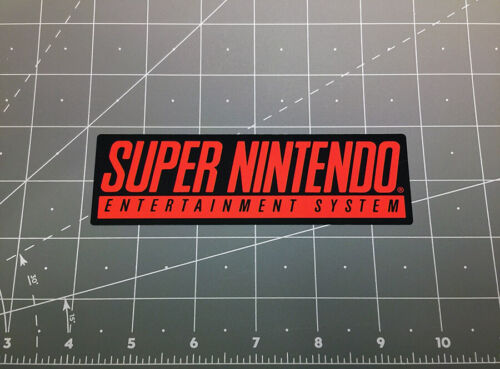 Super Nintendo SNES video game logo decal sticker retro 90s Mario World Zelda