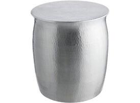 Habitat Orrico Side Table - Hammered Aluminium