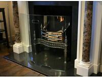 Glass fireguard curved fire guard