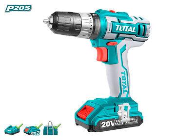 Total Tools Taladro 20V 45NM 2,0Ah + 2 Baterías TIDLI20025