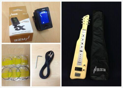 Haze Solid White Poplar Body Electric LAP Steel Guitar,Natural+Free Bag SEG-217N