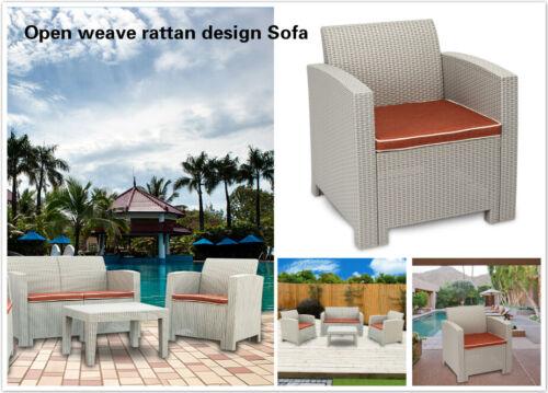 Garden Furniture - Outdoor Patio Garden Furniture Sofa Set Gray White-Single Sofa