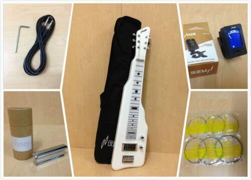 Haze 217WH Solid Poplar Body Electric LAP Steel Guitar +Slide Bar & Free Gig Bag