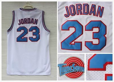 Space Jam Tune Squad Basketball Sewn Jersey Michael Jordan #23 White Size S-3XL