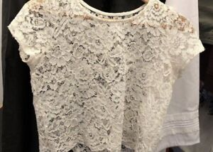 Cropped lace cover up