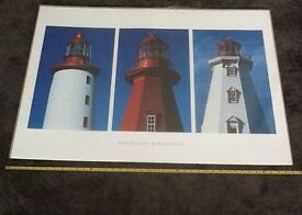 UNUSED IKEA GUICHARD LIGHTHOUSES LARGE 70 x 100 cm POSTER JEAN GUICHARD - MINT