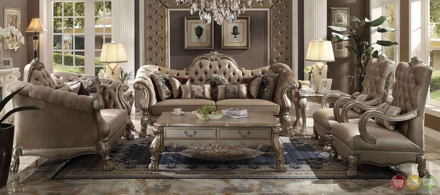 Details about Dresden Victorian Style Bone Velvet Upholstered 3 Piece  Living Room Sofa Set
