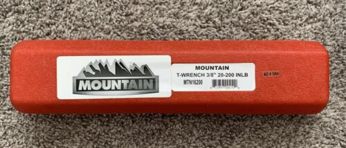 """(R3S3) 3/8"""" Drive 20-200 In./lbs. Torque Wrench MTN16200 Brand New!"""
