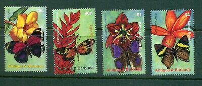 Antigua #2945-48 (2007 Flowers set)  VFMNH  CV $8.00
