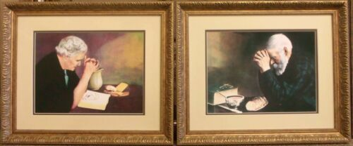 """""""Grace and Gratitude"""" Famous Framed Art Pair Pictures"""