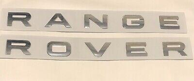 New RANGE ROVER VOGUE Bonnet & Boot Badge Letters *Chrome*