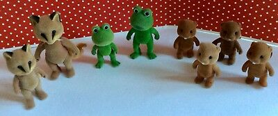 x 8 Sylvanian Families Assorted Figures without clothes Frogs Beavers Foxes