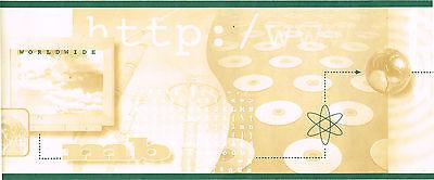 Internet World Wide Web Cd Computer Http  Www  Green Beige Wallpaper Border