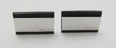 New Original Gucci Sterling Silver & Leather Cufflinks YBE37383000100U COA -