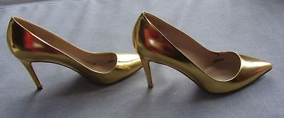 WOMENS JCREW ITALIAN POINTY SHOES HEELS GOLD SIZE 9 GENUINE LEATHER CHIC CLASSY for sale  Markham