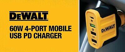 DeWalt 4 Port Car Cell Phone Charger