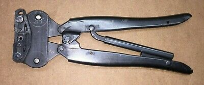 Amphenol Amp Ratcheting Hand Crimp Tool Type Ob Coaxicon Pin Pn - 69656-2-e