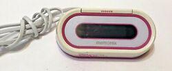 Memorex AM/FM Alarm Clock Radio Pink & White W207-PNK Tested Used