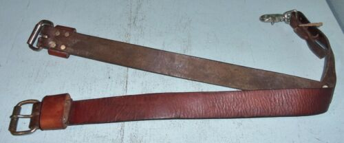 """Leather Western Saddle Rear Back Cinch Roller Buckles Used Horse Tack 35"""""""