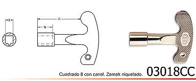 LLAVE CUADRADA 8 mm CANAL.ARMARIOS ELECTRICOS CONTADORES ASCENSORES HIMEL RITAL.