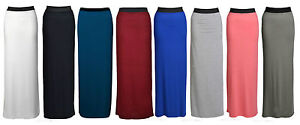 New-Womens-Long-Jersey-Gypsy-Maxi-Dress-Skirt-Ladies-Skirt-Size-8-22