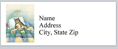 Personalized Address Labels Fat Cat Sleeping Buy 3 Get 1 Free P 629