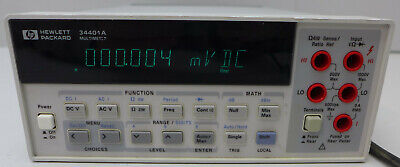 Agilenthp 34401a 6.5 Digit Digital Multimeter 5 Tested And Working All In Cal