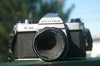 Pentax K1000 film SLR/Super Multicoated Macro Takumar 50mm