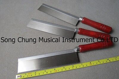 "3 Pcs ultrathin hand saw with wooden handle,1.57"" x 0.012"" thick and 6.5"" long"