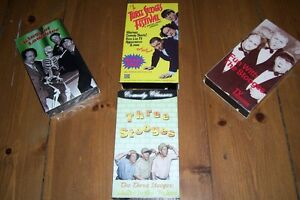 CLASSIC COLLECTION FOUR VHS TAPES THE THREE STOOGES LIKE NEW London Ontario image 1