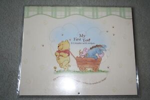 BRAND NEW - WINNIE THE POOH - MY FIRST YEAR CALENDAR