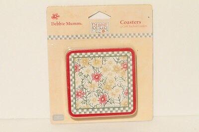 Debbie Mumm Floral Flower Coasters - Set Of 4