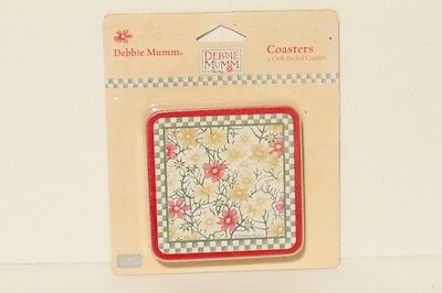 Debbie Mumm Floral Flower Coasters - Set Of 4