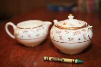 Wedgwood Bone China Rouen Cream and Sugar Set