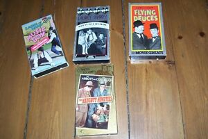 CLASSIC COLLECTION 4 VHS TAPES 3 LAUREL & HARDY 1 ABBOTT &COSTEL London Ontario image 1