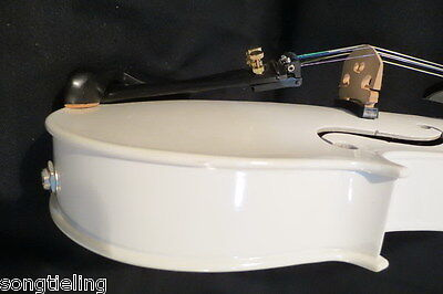 white colors  5 strings electric & acoustic violin 4/4  #7366 on Rummage
