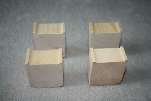 WOODEN THOMAS ASCENDING TRACK RISERS - 4 PIECES