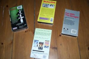 CLASSIC COLLECTION FOUR VHS TAPES THE THREE STOOGES LIKE NEW London Ontario image 2