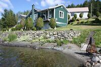 Chalet (maison) lac Témiscouata à louer ou vendre (210,000$)