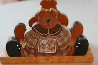 **NEW** HAND PAINTED BEAR NAPKIN HOLDER