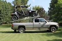 UTV Deck - haul your UTV & holiday trailer in one load!
