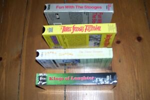 CLASSIC COLLECTION FOUR VHS TAPES THE THREE STOOGES LIKE NEW London Ontario image 3