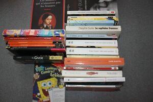 Livres en français et anglais - classiques secondaire et CEGEP