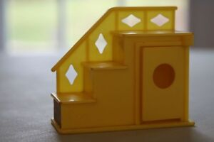 FISHER PRICE VINTAGE YELLOW STAIR CASE