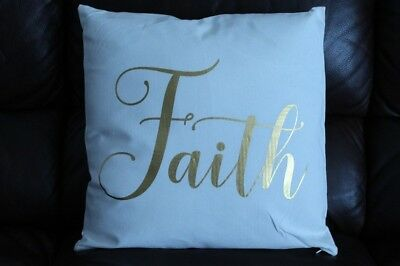 18 in throw pillow faith
