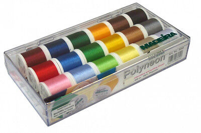 Madeira 18 Spool Polyneon Machine Embroidery Thread Gift Box 20928045