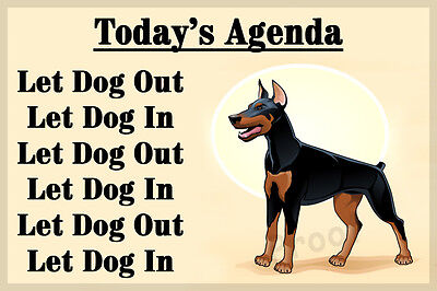 Doberman Pinscher Dog Funny Fridge Magnet New Dobie Birthday Christmas Gift