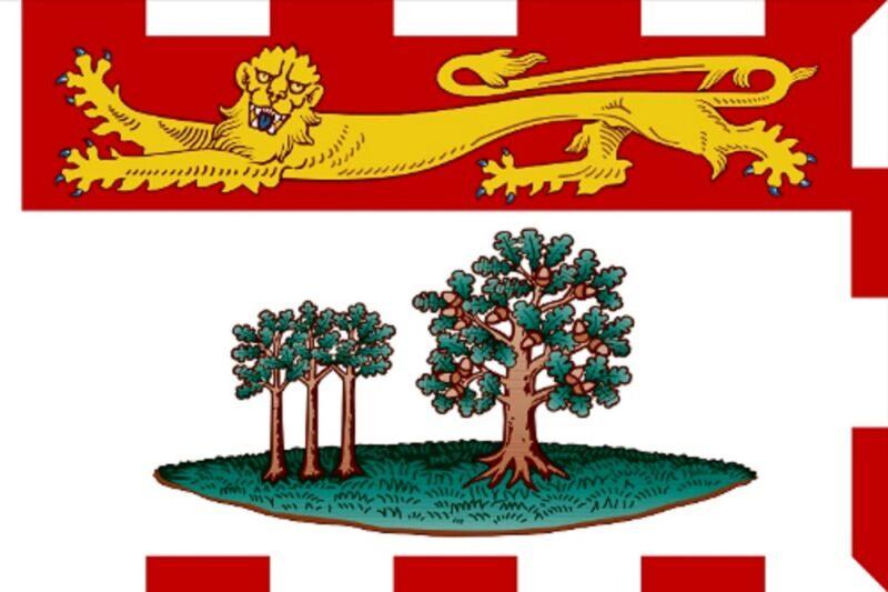 ***PRINCE EDWARD ISLAND CANADA VINYL FLAG DECAL STICKER