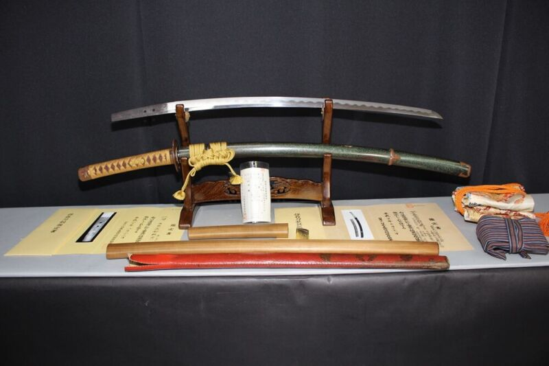 (IB-7) Old Katanaosafune Sukesada Muromachi Age With Koshirae Both Have NBTHK