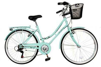 "Aurai Trekker Ladies 26"" Dutch Style Heritage City Bike 6 Speed Bicycle Lagoon"
